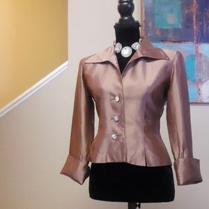 J S Collections Petite/ Satiny Lilac/Dress Jacket